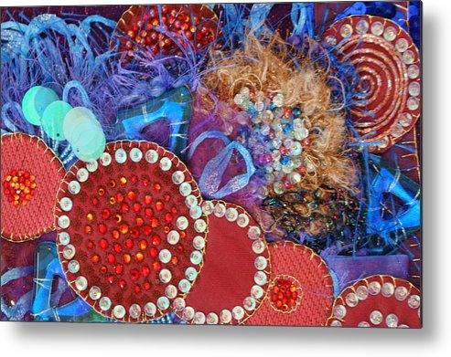 Metal Print featuring the mixed media Ruby Slippers 3 by Judy Henninger