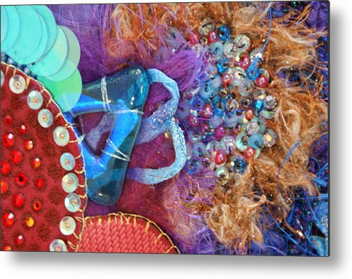 Metal Print featuring the mixed media Ruby Slippers 8 by Judy Henninger