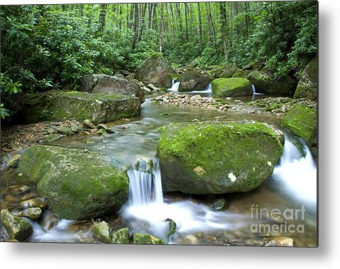 Rushing Mountain Stream Metal Print featuring the photograph Rushing Mountain Stream by Thomas R Fletcher