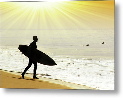 Action Metal Print featuring the photograph Rushing Surfer by Carlos Caetano