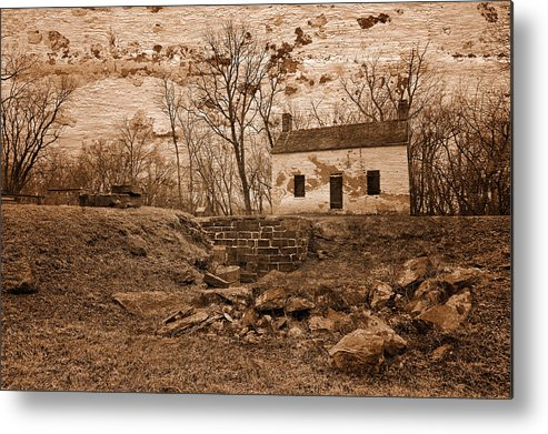 Lockhouse Metal Print featuring the photograph Rustic Lockhouse Mural by Nicolas Raymond