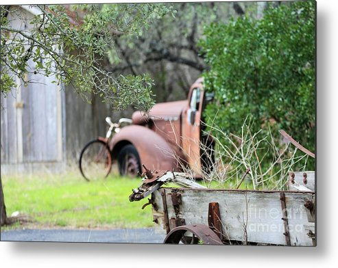 Metal Print featuring the photograph Rustic Truck by Jeff Downs