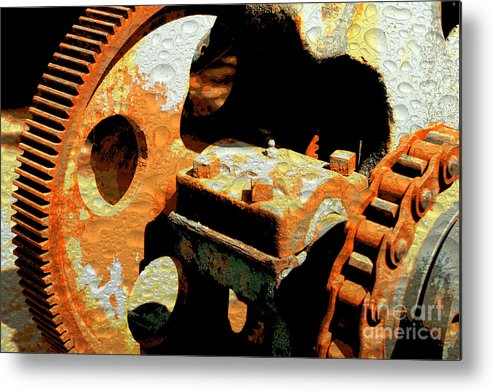 Rusty Metal Print featuring the photograph Rusty Gears by Carol Groenen