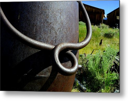 Landscape Metal Print featuring the photograph Rusty Handle by Shannon Nickerson