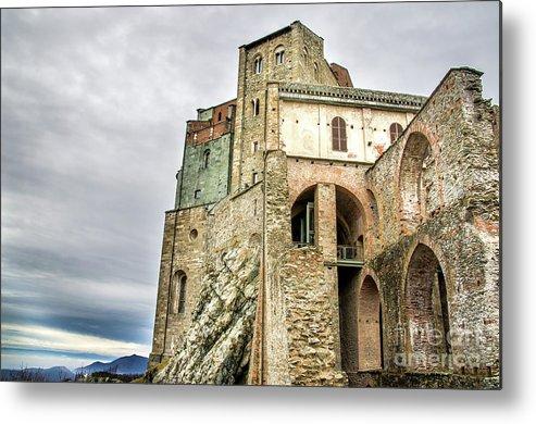 Abbey Metal Print featuring the photograph Sacra Di San Michele - Avigliana - Turin - Monastery Italy by Luca Lorenzelli