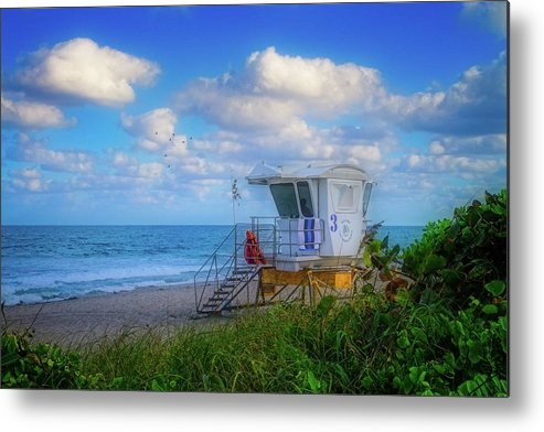 Aqua Metal Print featuring the photograph Safe Waters by Lynn Bauer