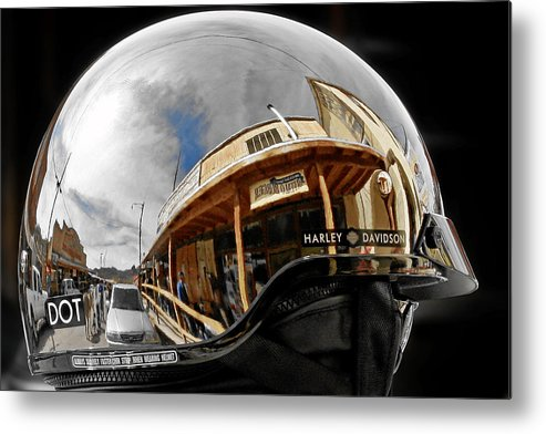 Harley Metal Print featuring the photograph Safety Is Sexy by Christine Till