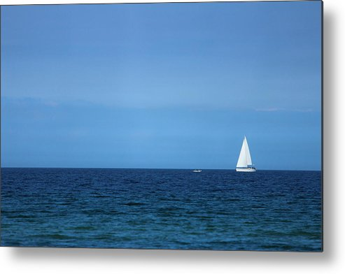 Blue Metal Print featuring the photograph Sailboat by Heike Hultsch