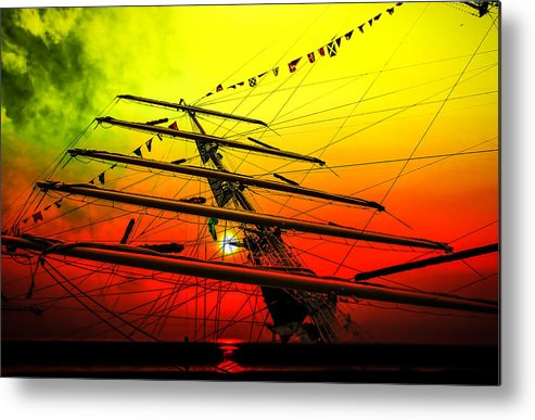 Sailing Metal Print featuring the photograph Sailing Romance 4 by Walter Zettl