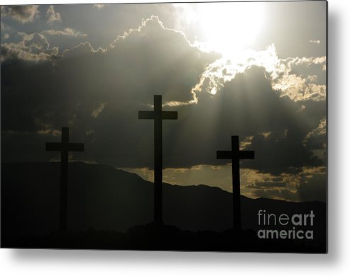 Crosses Metal Print featuring the photograph Salvation by Kenneth Hess