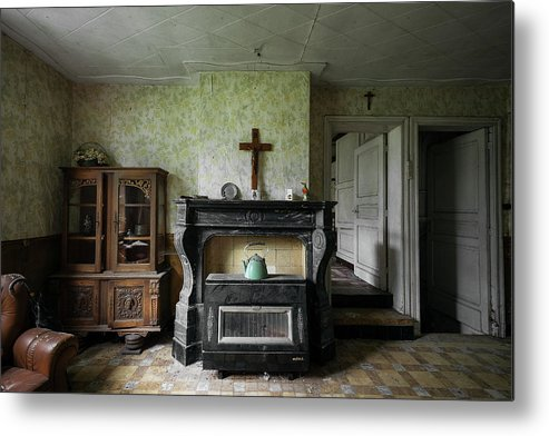 Urbex Metal Print featuring the photograph Sanctuary by Marissa Mancini