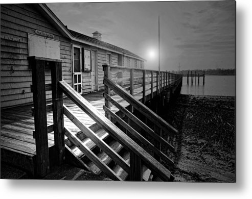 Darien Connecticut Metal Print featuring the photograph Sandy Feet Snack Shack by Diana Angstadt