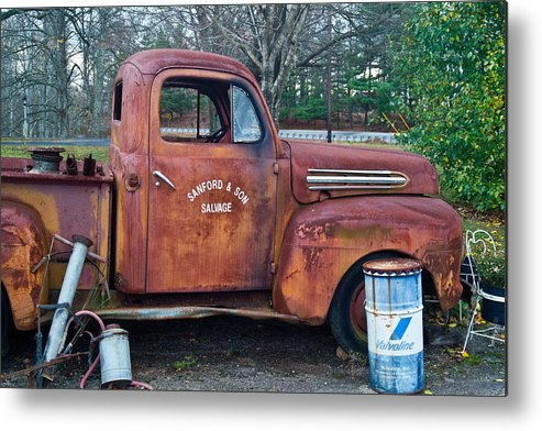 Metal Print featuring the photograph Sanford And Son Salvage 1 by Douglas Barnett