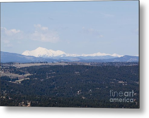 Sangre De Cristo Mountains Metal Print featuring the photograph Sangre De Cristo Mountains From Bald Mountain Colorado by Steve Krull