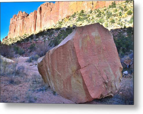 Grand Staircase Escalante National Monument Metal Print featuring the photograph Sapphire Rock by Ray Mathis