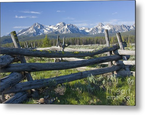 Sawtooth Metal Print featuring the photograph Sawtooth Range by Idaho Scenic Images Linda Lantzy