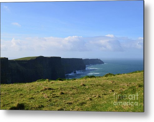 Cliffs-of-moher Metal Print featuring the photograph Scenic Views Of The Cliff's Of Moher In Ireland by DejaVu Designs