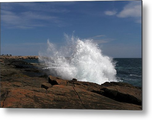 Down East Metal Print featuring the photograph Schoodic Point In Acadia National Park by Juergen Roth