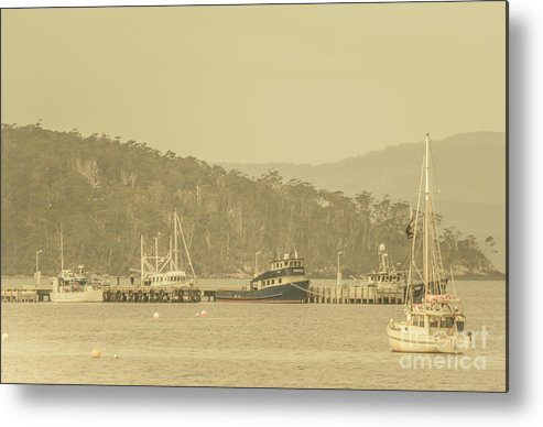 Harbour Metal Print featuring the photograph Seascapes Of Old by Jorgo Photography - Wall Art Gallery