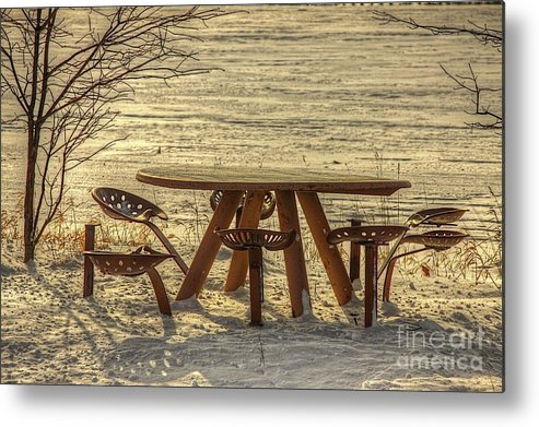 Tractor Seats Metal Print featuring the photograph Seat Of A Farmer by Robert Pearson