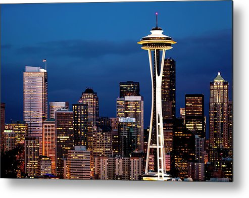 Seattle Metal Print featuring the photograph Seattle Skyline by Janet Fikar