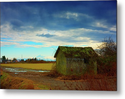 Shack Metal Print featuring the photograph Shack And Moody Skies by Paul Kloschinsky