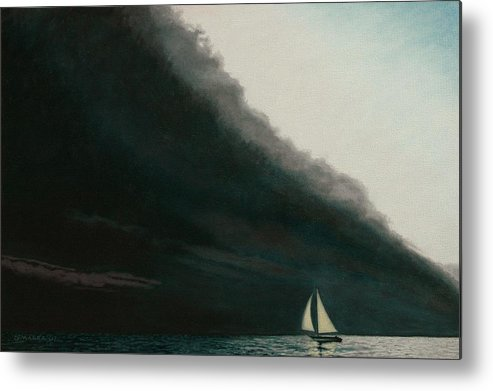 Sailing Metal Print featuring the painting Shadow Work by Allan OMarra