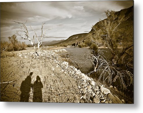 Desert Metal Print featuring the photograph Shadows Lurking by Keith Sanders