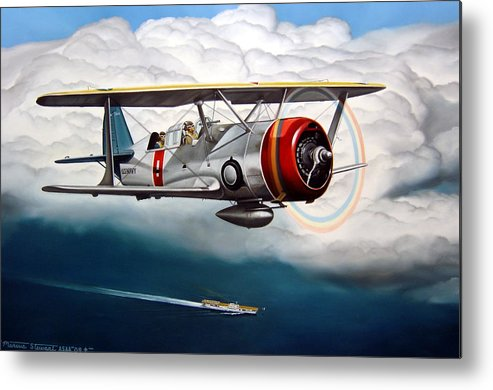 Aviation Metal Print featuring the painting Shakedown Cruise by Marc Stewart