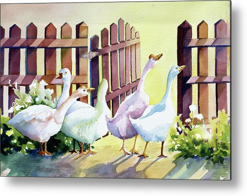 Animal Metal Print featuring the painting Shall We by Connie Williams