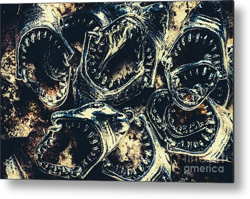 Fish Metal Print featuring the photograph Shark Jaws by Jorgo Photography - Wall Art Gallery
