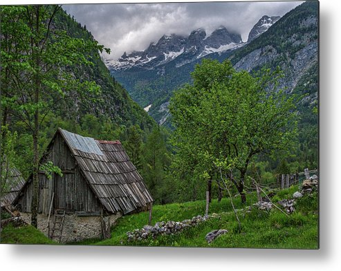Slovenia Metal Print featuring the photograph Shed In The Pass by Stuart Litoff