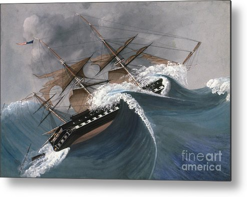 18th Century Metal Print featuring the photograph Shipwreck by Granger