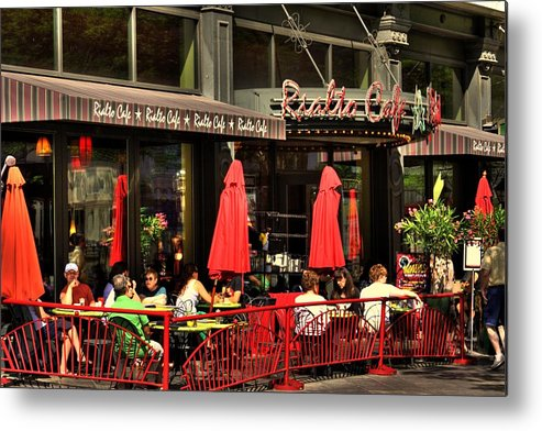 Denver Metal Print featuring the photograph Sidewalk Cafe by Laurie Prentice