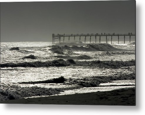 Photo Metal Print featuring the photograph Silver Sea 1 by Alan Hausenflock