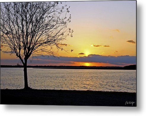 Sunset Metal Print featuring the photograph Sinking Sun by Phill Doherty