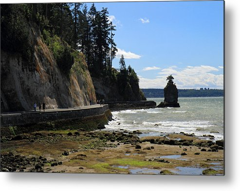 Siwash Metal Print featuring the photograph Siwash Rock Stanley Park Vancouver by Pierre Leclerc Photography