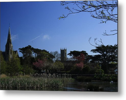 Landscape Metal Print featuring the photograph Skerries Church And Grounds by Martina Fagan