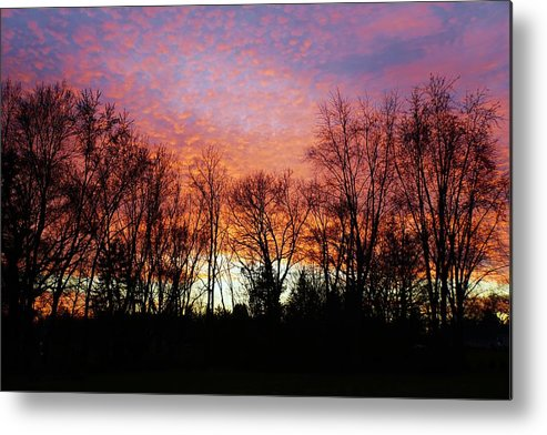 Sky Metal Print featuring the photograph Sky Of Fire by Red Cross