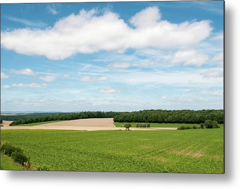Field Metal Print featuring the photograph Sky Over Field by Amy Dooley