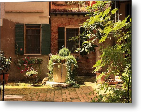 Venice Metal Print featuring the photograph Small Campo In Venice by Michael Henderson