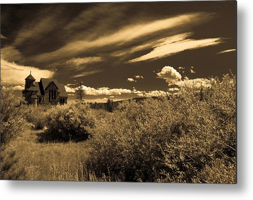 Church Metal Print featuring the photograph Small Town Church by Marilyn Hunt