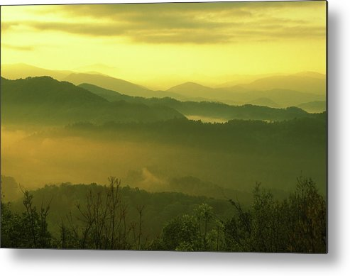 National Park Metal Print featuring the photograph Smoky Mountain Sunrise by John Burk