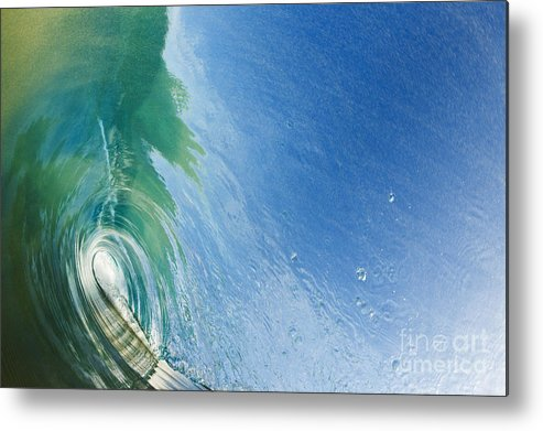 Amazing Metal Print featuring the photograph Smooth Wave Tube by MakenaStockMedia - Printscapes