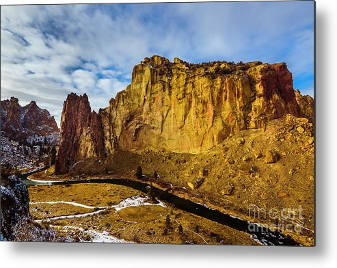 Smithrock Metal Print featuring the photograph Snow And Sun by Adam Reisman