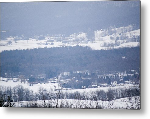 Valley Metal Print featuring the photograph Snow In The Valley by Richard Botts