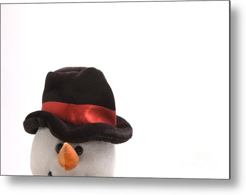 Snowman Metal Print featuring the photograph Snowman by Andy Smy