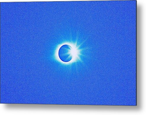 Sun Metal Print featuring the painting Solar Eclipse, 32 by Celestial Images