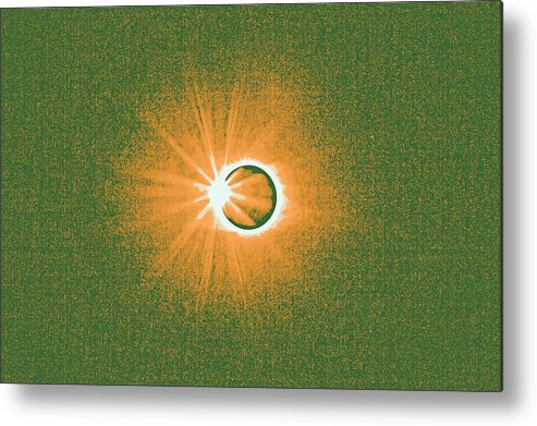 Sun Metal Print featuring the painting Solar Eclipse, 34 by Celestial Images