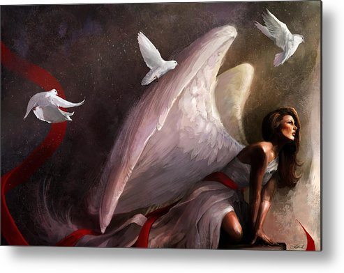 Weeping Metal Print featuring the mixed media Sometimes They Weep by Steve Goad